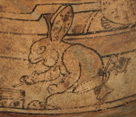 Princeton vase Mayan bunny close up
