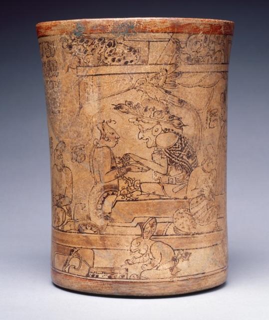 Princeton vase Mayan bunny
