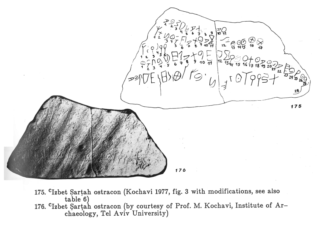 Sass 1988 175-176 Isbet Sartah ostracon